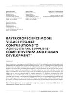 prikaz prve stranice dokumenta Bayer CropScience model village project: Contributions to agricultural suppliers' competitiveness and human development