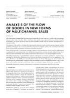 ANALYSIS OF THE FLOW OF GOODS IN NEW FORMS OF MULTICHANNEL SALES